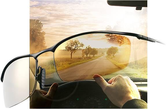DriveWear v autě, jasno