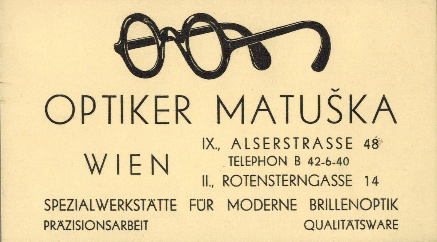 Oční optika Matuška, Vídeň