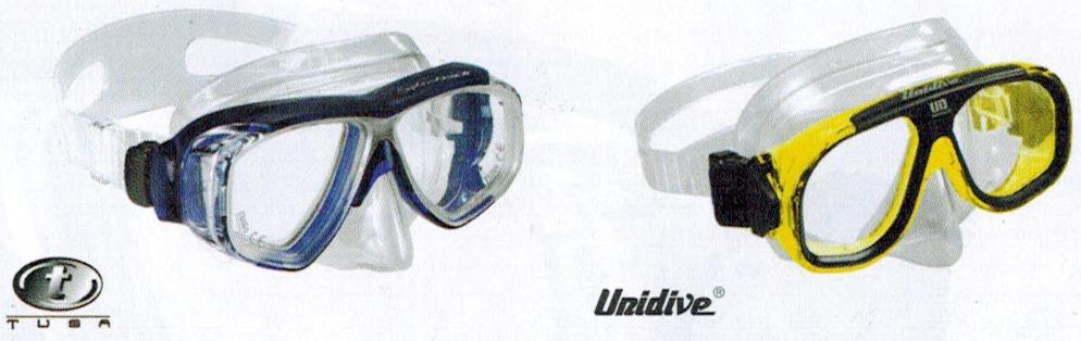 Potápěčské brýle s možností zábrusu dioptrické korekce