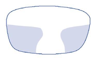 Progresivní brýlová čočka