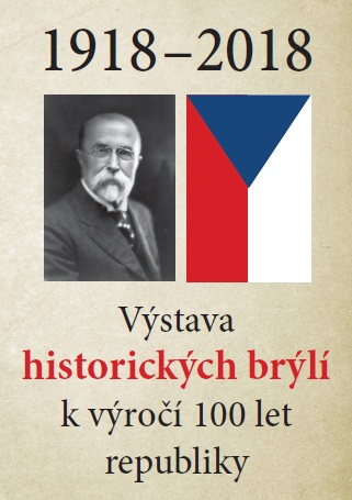 Výstava historických brýlí k výročí 100 let ČSR